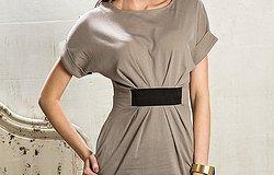 Выкройка платья с цельнокроеным рукавом, спущенным: построение выкройки