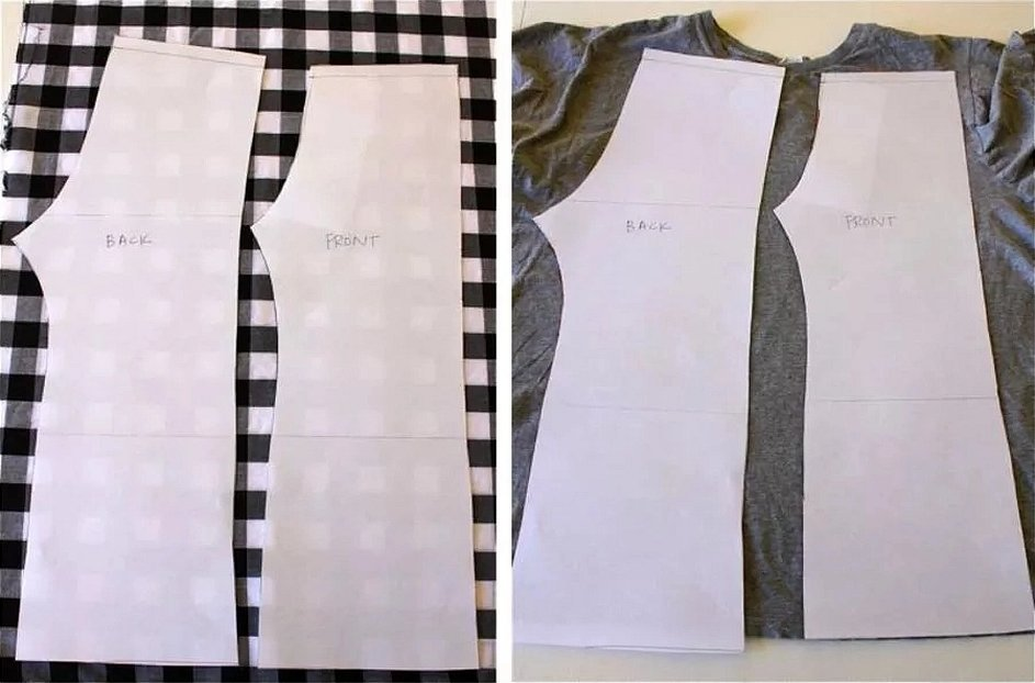 Лекала платья с двумя вытачками