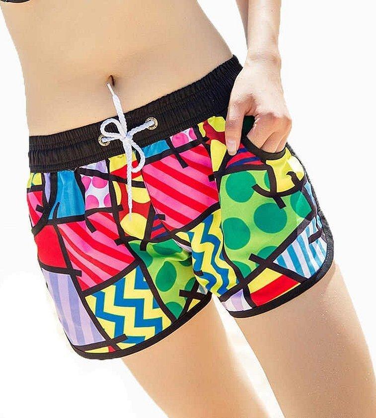 Женские пляжные шорты для плавания
