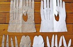 Шьем перчатки сами без пальцев своими руками: выкройки из кожи и трикотажа