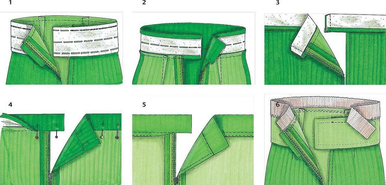Технология пошива пояса юбки