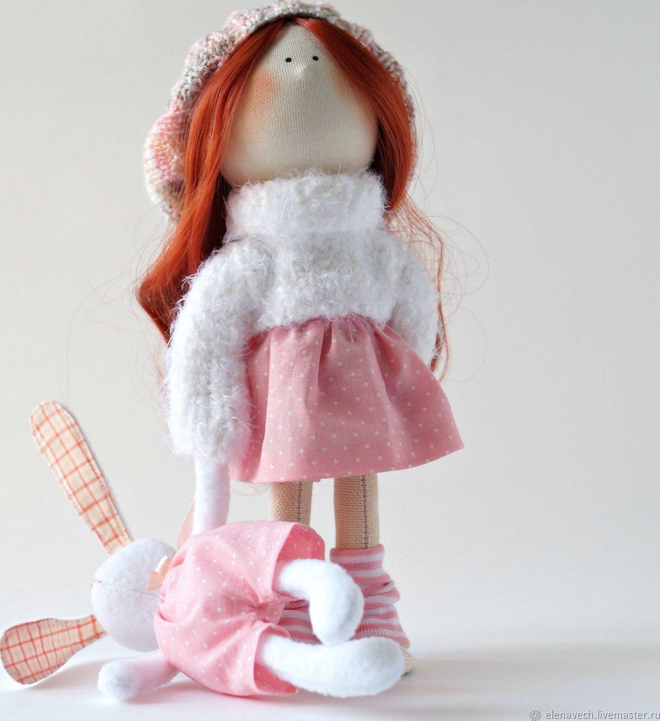 Игрушки из флиса для интерьерной куклы