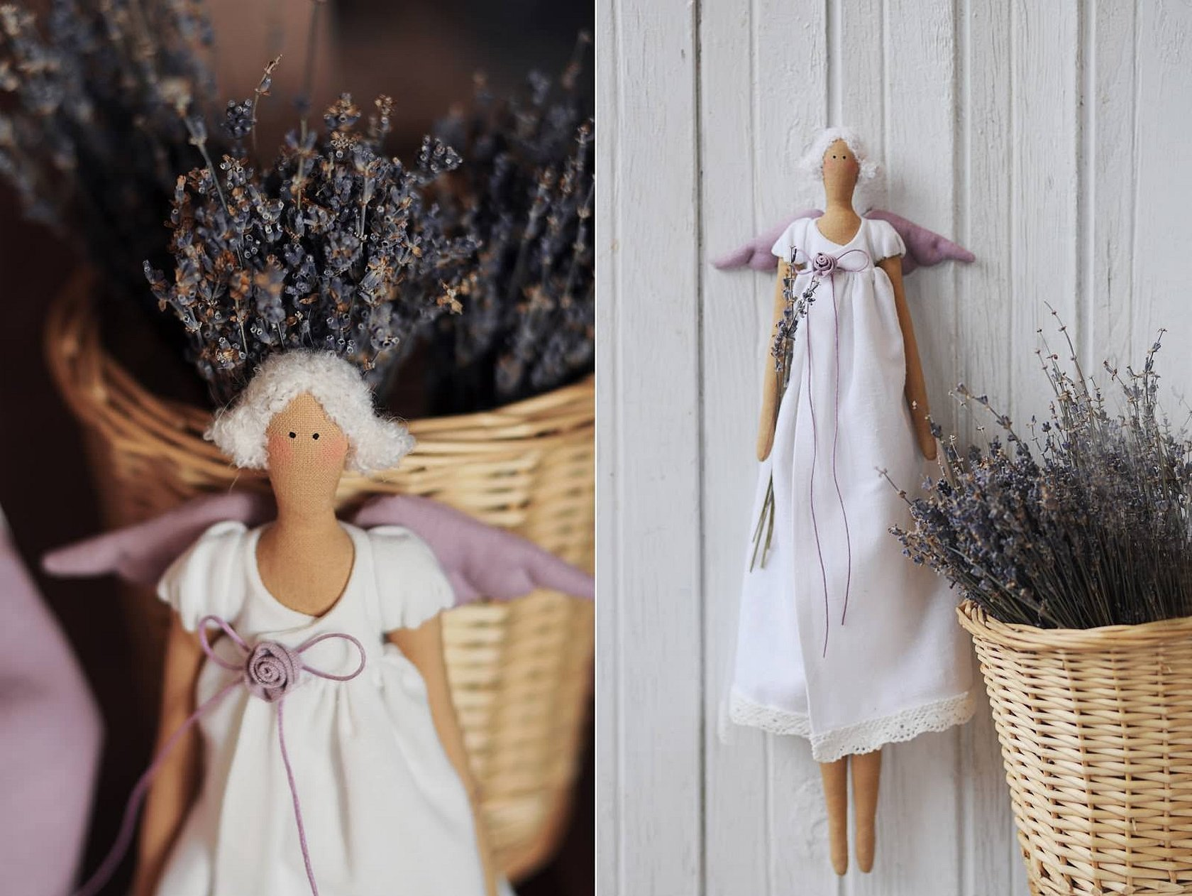 Кукла тильда лавандовый ангел