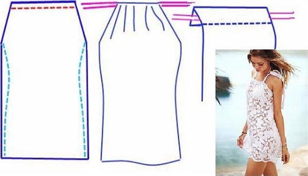 Платье с американской проймой выкройка