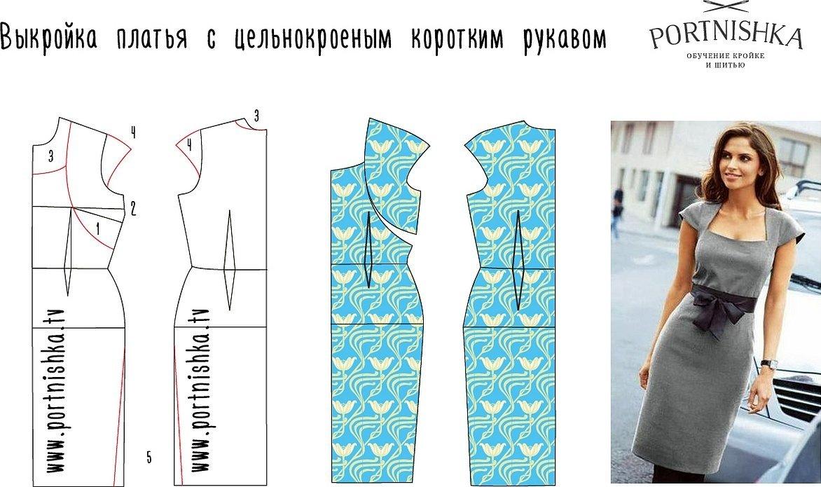 Комбинированные платья выкройки