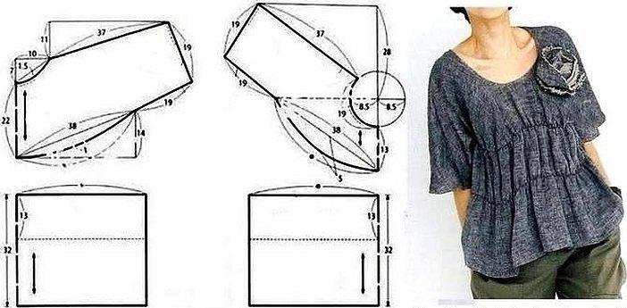 Шитье простые выкройки простые вещи