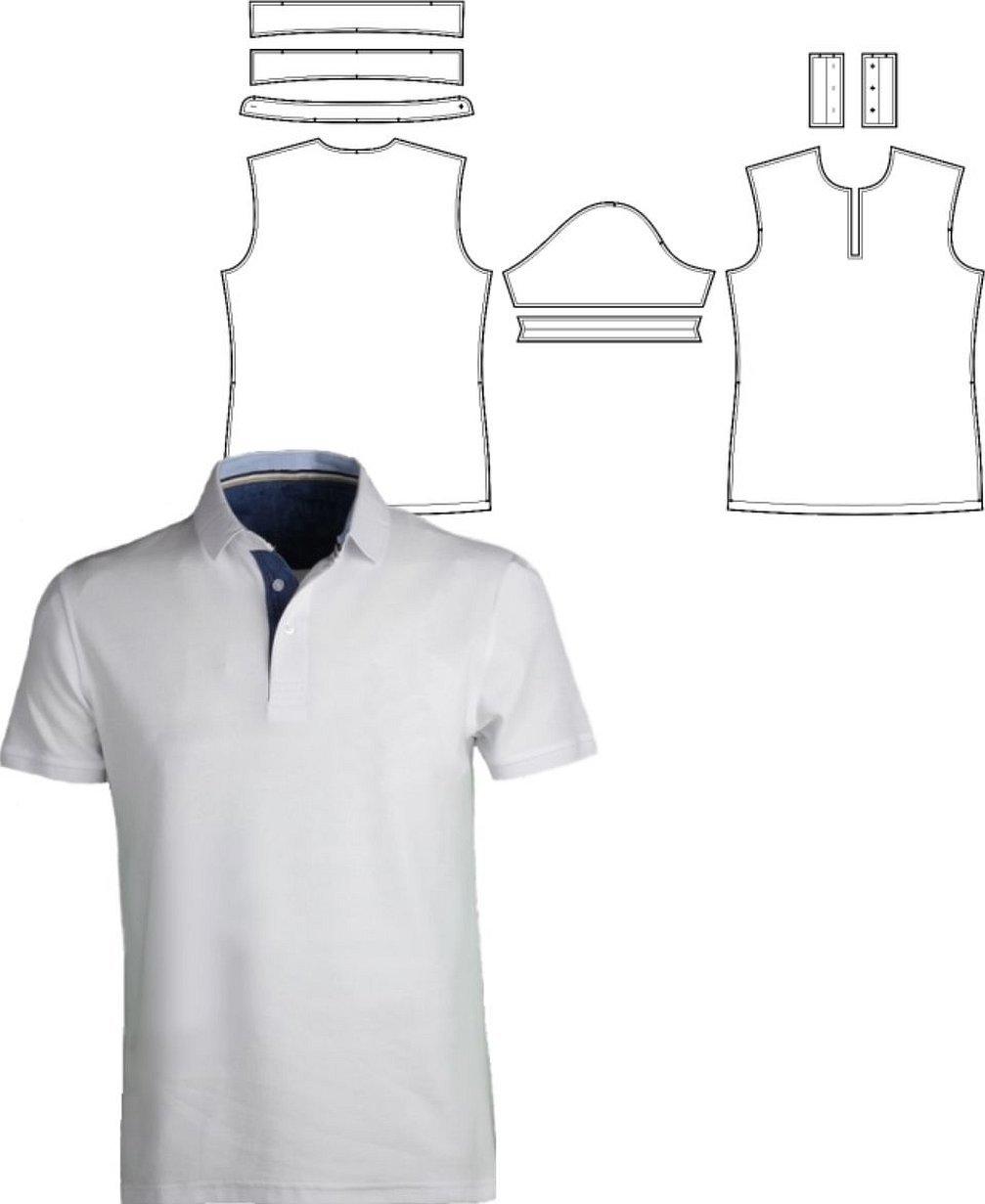 Рубашка поло технический рисунок