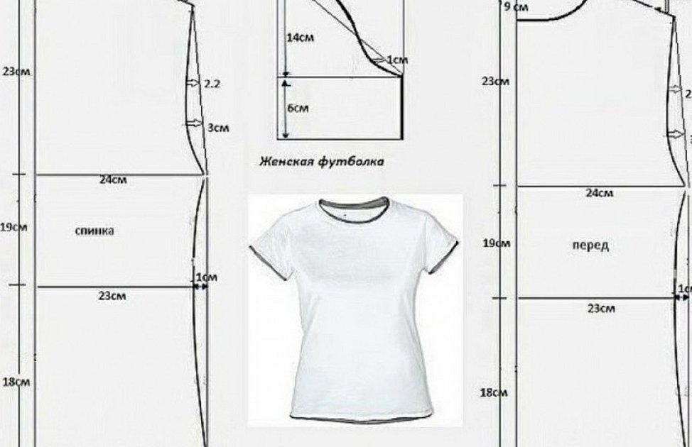Выкройка футболки женской современные выреза