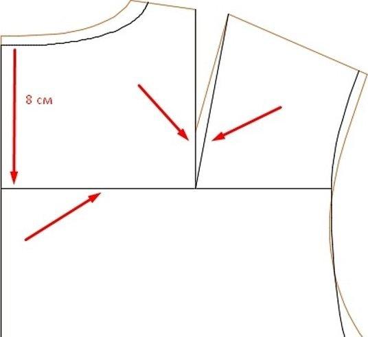 Блузка с большими рукавами выкройка