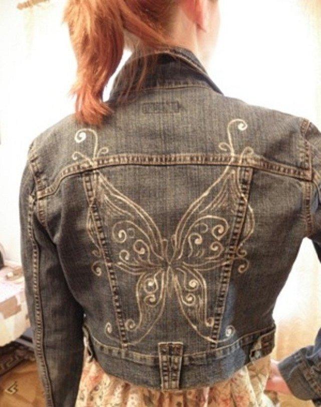 Джинсовая куртка женская с декором