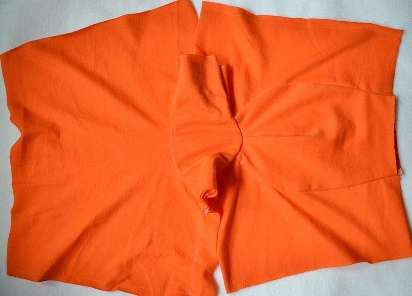 Рубашечная ткань оранжевого цвета
