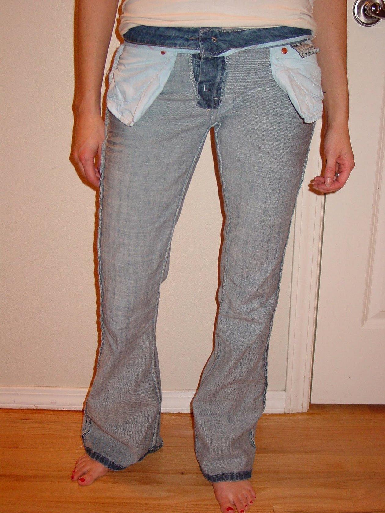 Ушить джинсы по боковым швам