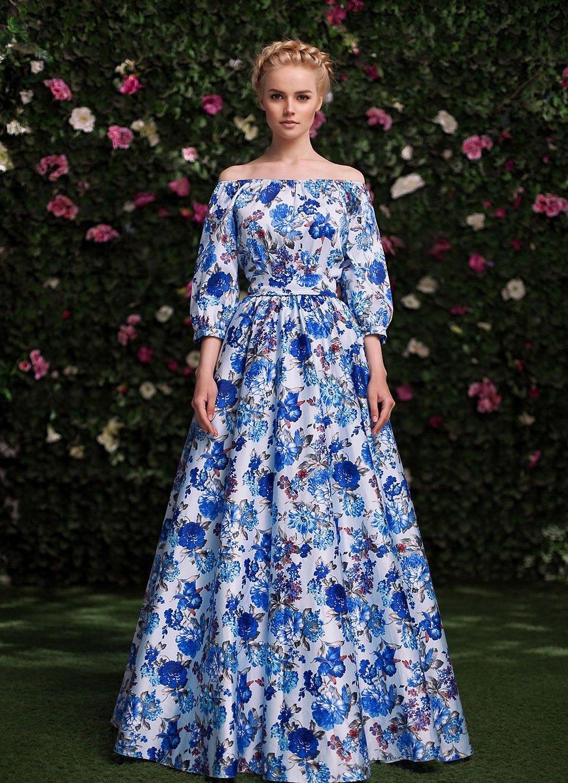 Вечерние платья в русском стиле