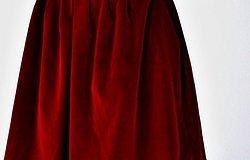 Построение выкройки юбки в складку
