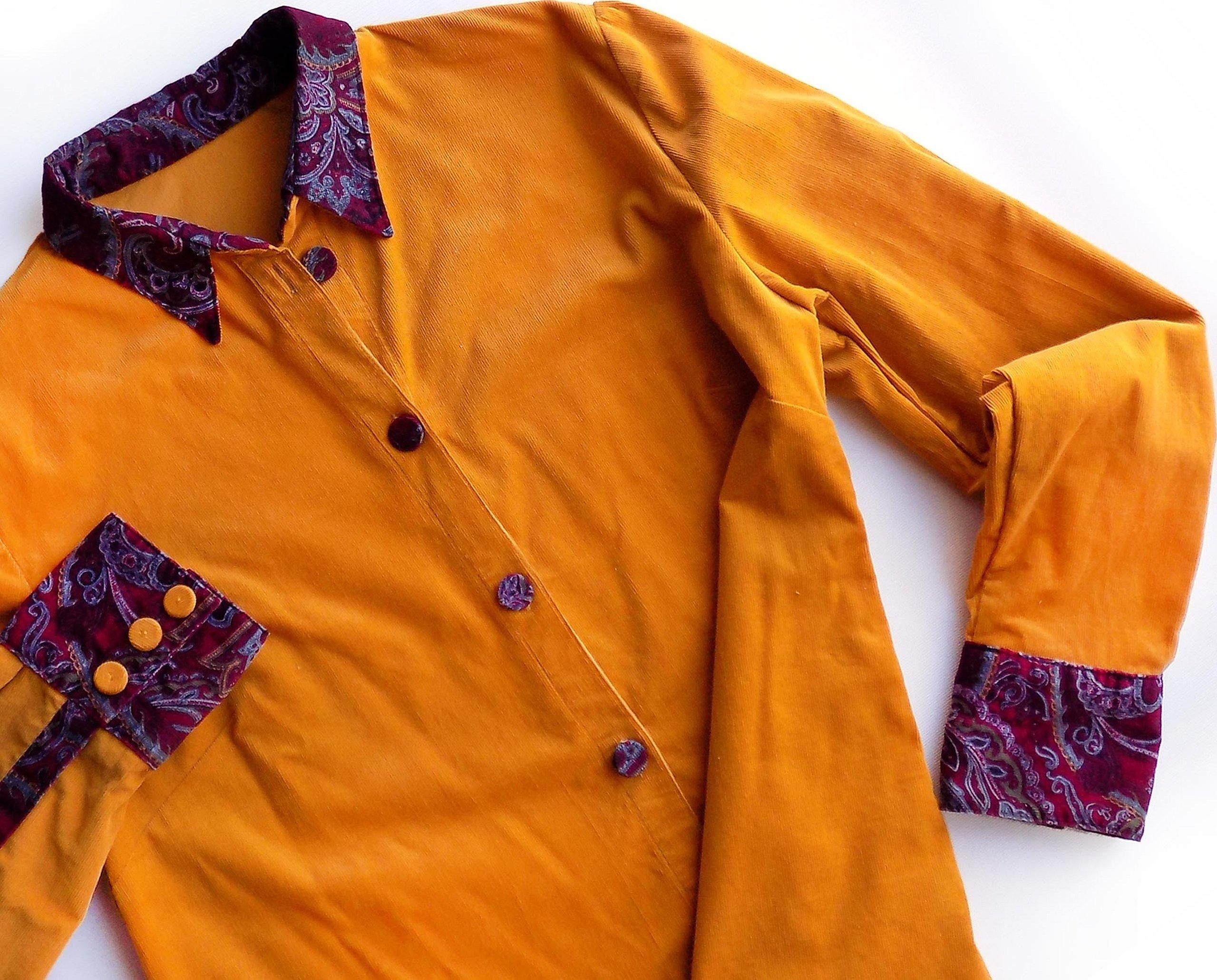 Оранжевая рубашка для мальчика