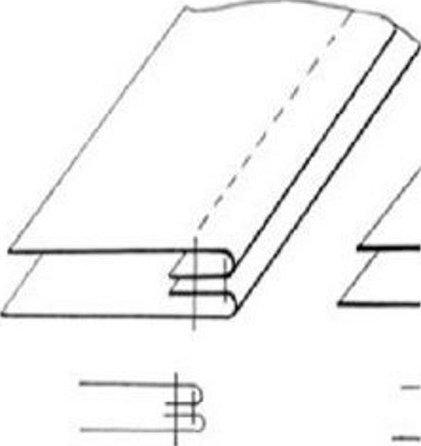 Краевой шов обтачной в рамку