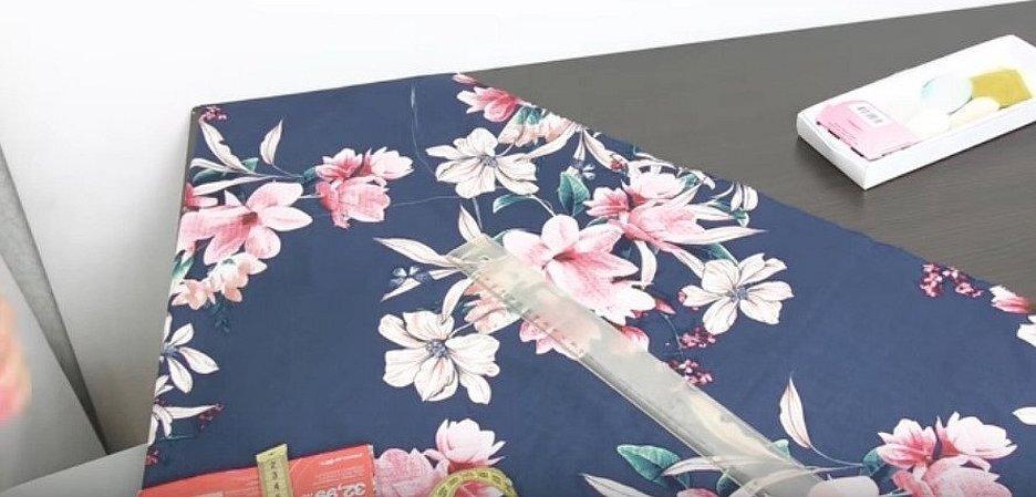 Поплин из стрейчевого хлопка с принтом цветы