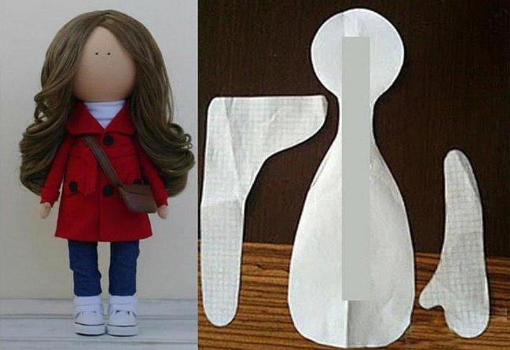 Выкройка интерьерной куклы в стиле тильды