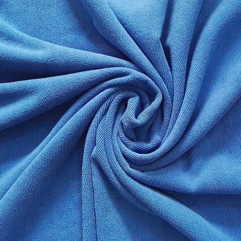 Костюмная ткань голубого цвета