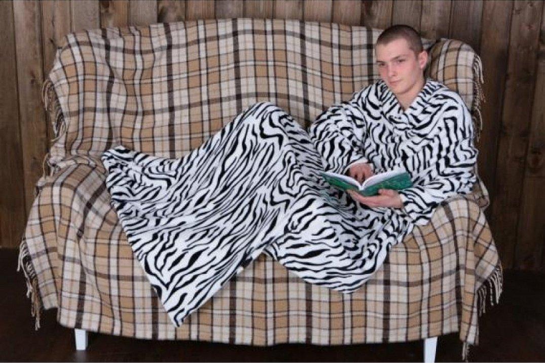 Плед велсофт зебра