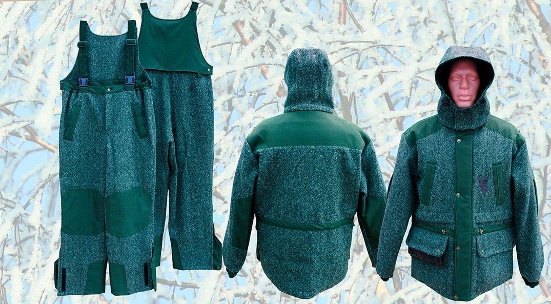 Суконный костюм для охоты зеленый