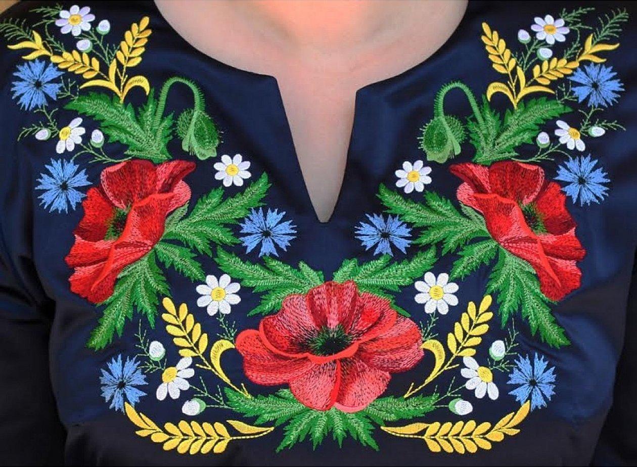 Вышивка гладью украинская вышивка