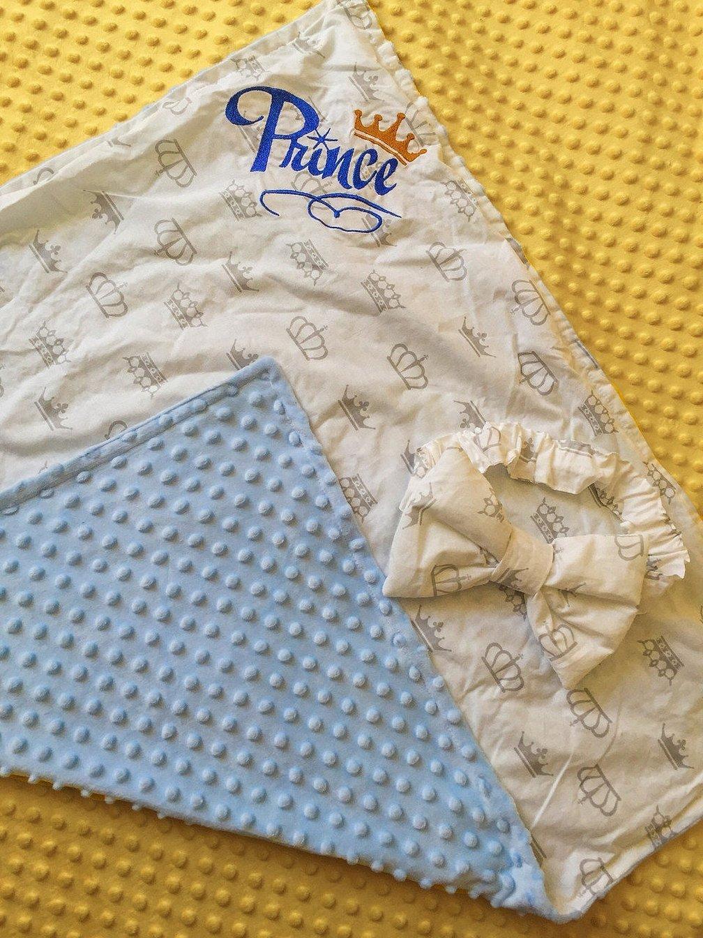 Одеяло с плюшем минки для новорожденных
