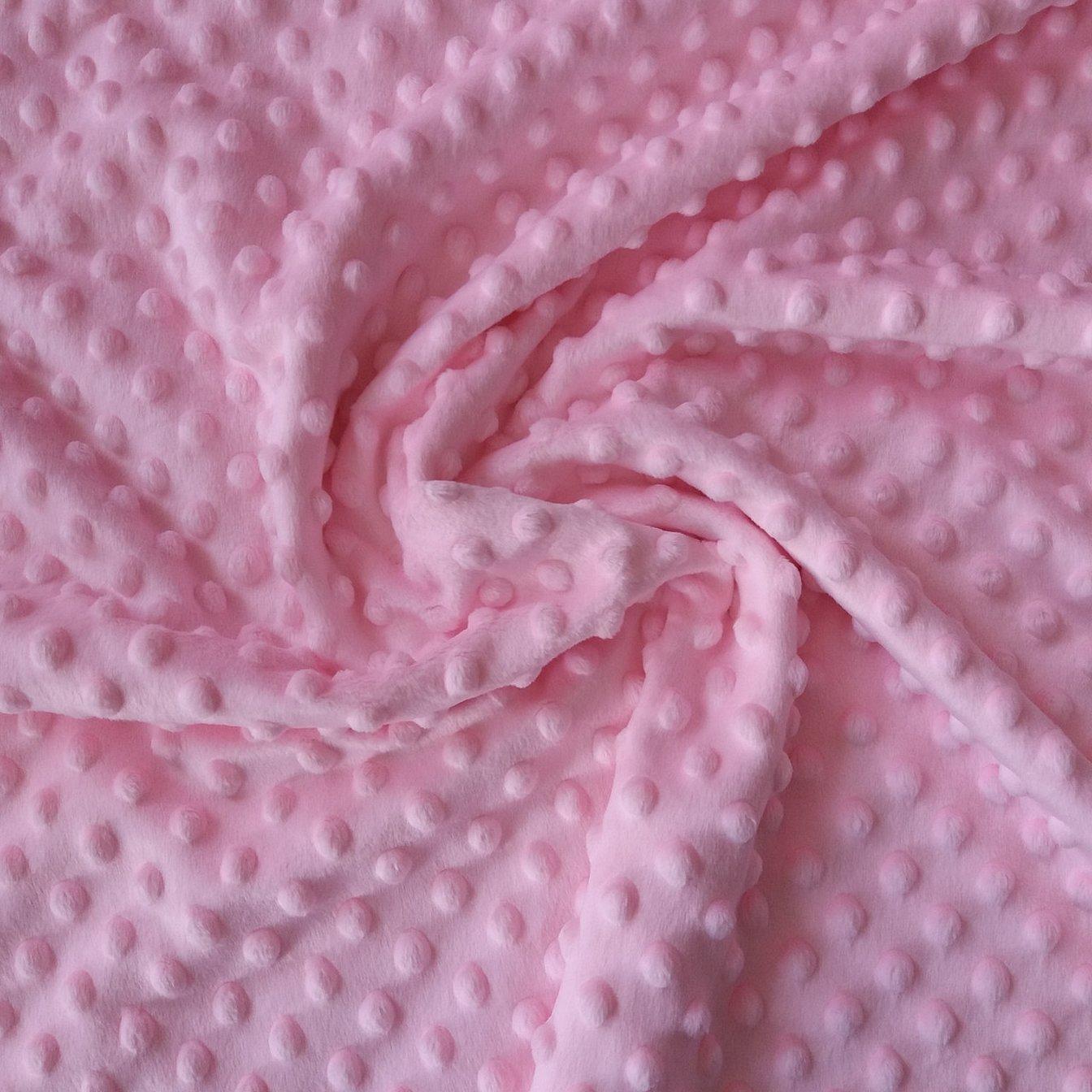 Плюш ткань минки розовый