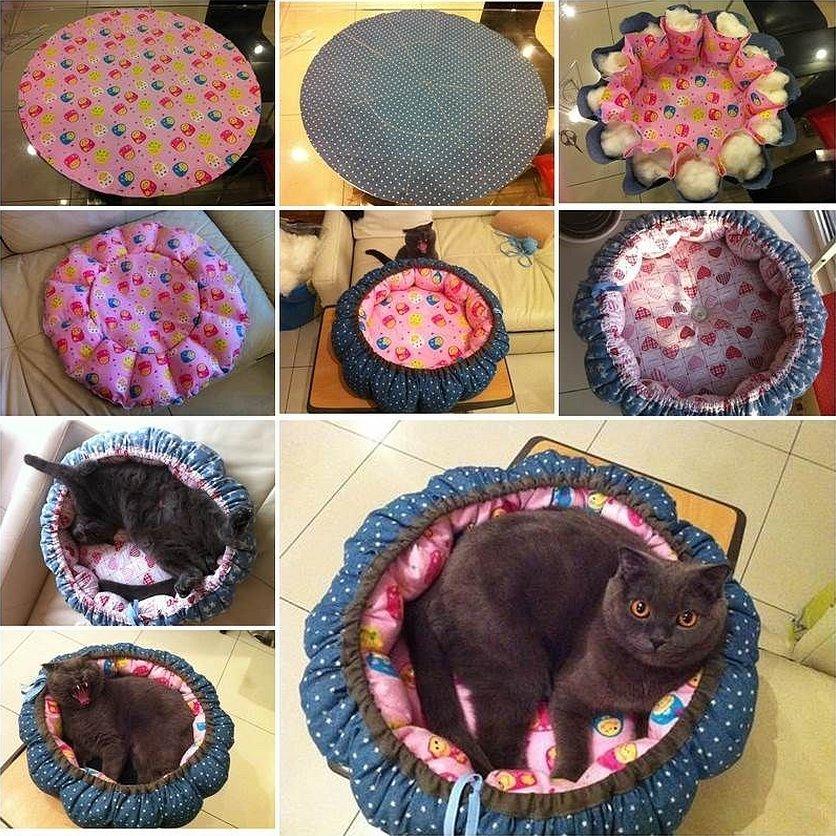 Лежак для кошки из подручных материалов