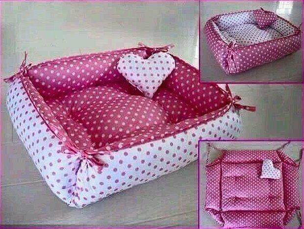 Ярко розовое лежанка для собачек