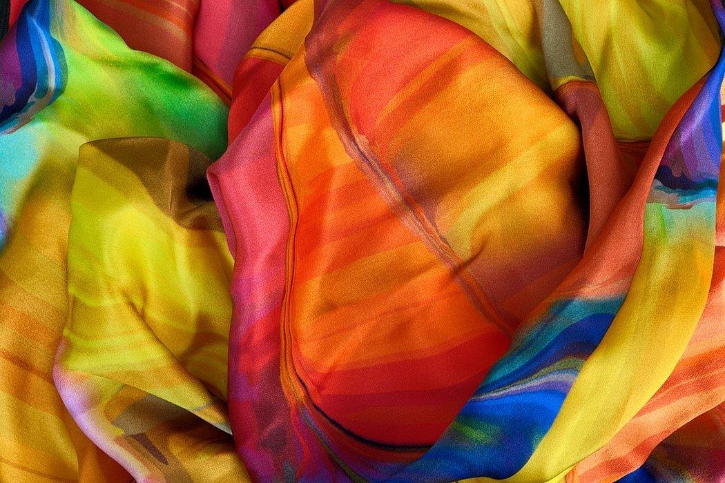 Органза радужный ткань