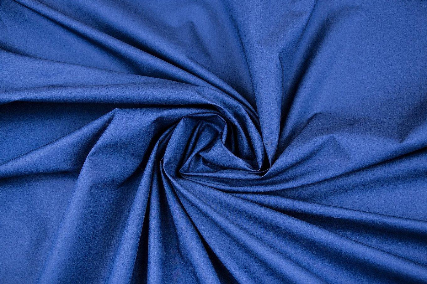 Ткань батист синий однотон