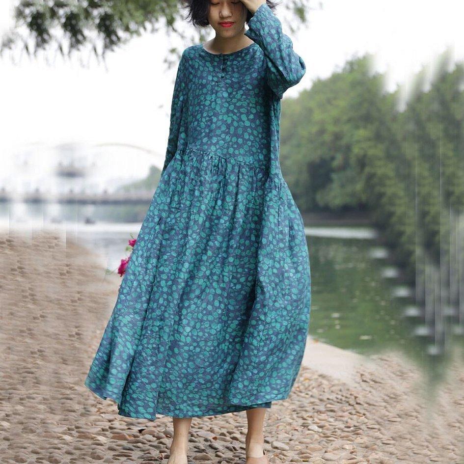 Платья макси в винтажном стиле
