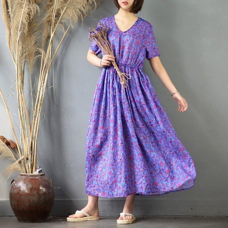 Сиреневые винтажные платья