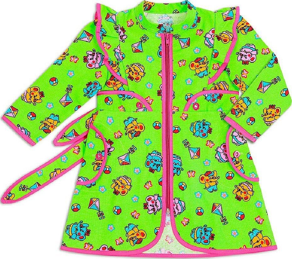 Детский халатик для девочки фланелевый