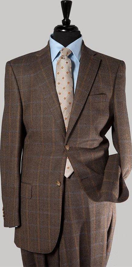 Коричневый твидовый костюм