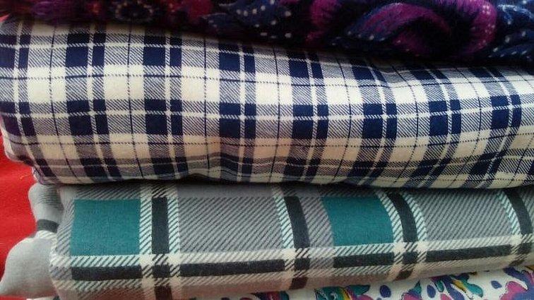 Ткань шерстяная шотландка