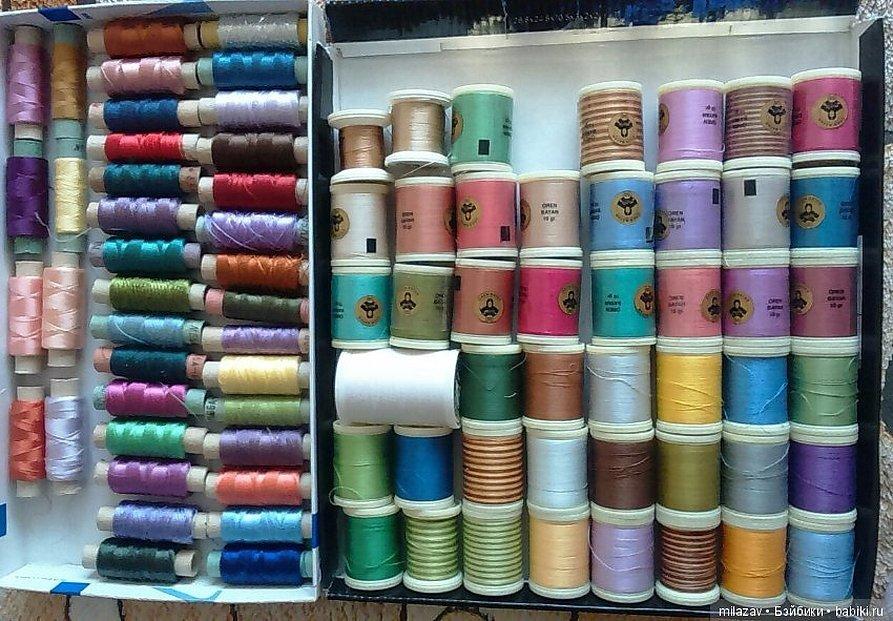 Шелковые швейные нитки