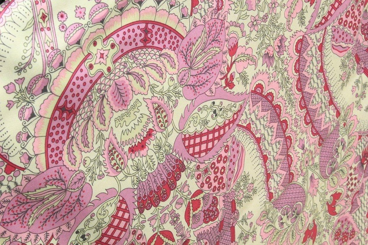 Розовая ткань пейсли ссср