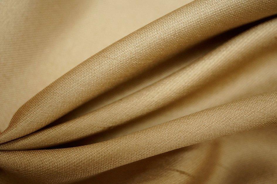 Ткань светлая коричневая лен