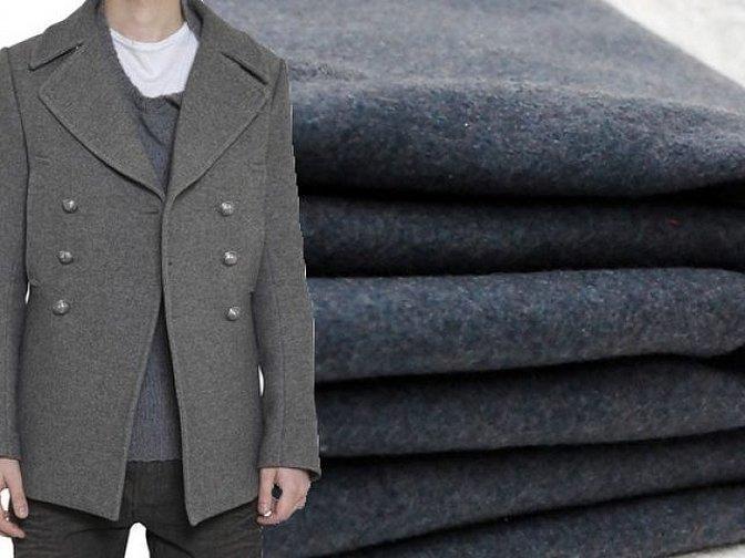 Двубортное шерстяное пальто мужское