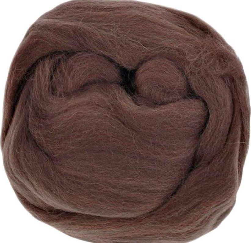 Шерсть для валяния коричневого цвета