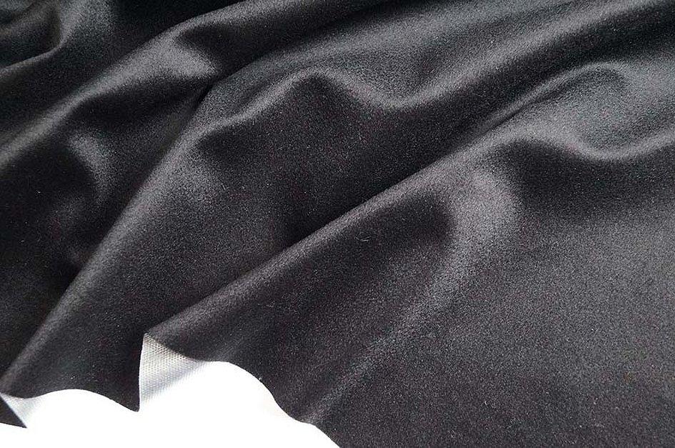 Ткани итальянский шелк черный