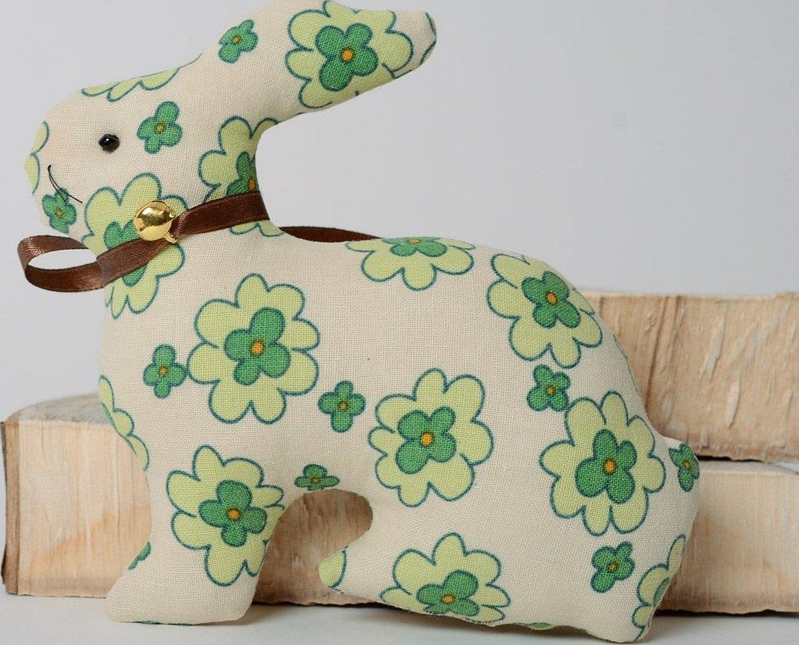 Текстильный пасхальный кролик тильда