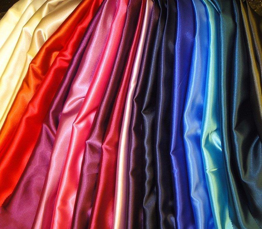 Атлас ткань стопка