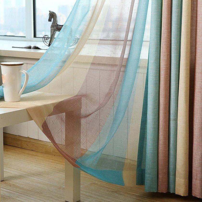 Тюль вуаль разноцветная