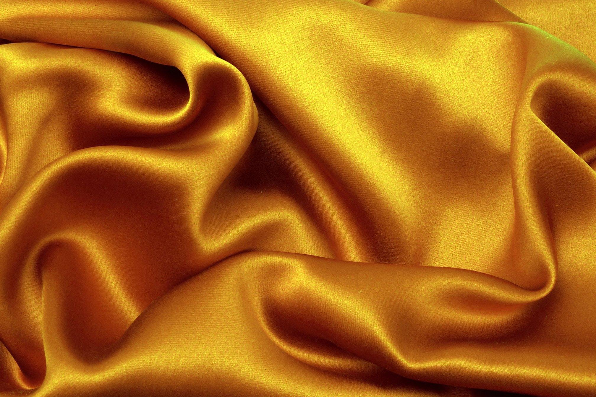 Желтый атлас ткань