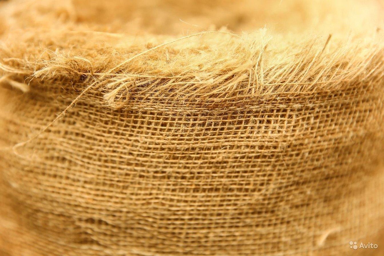 Льняная ткань мешковина