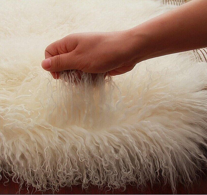 Пушистый искусственный мех овчина