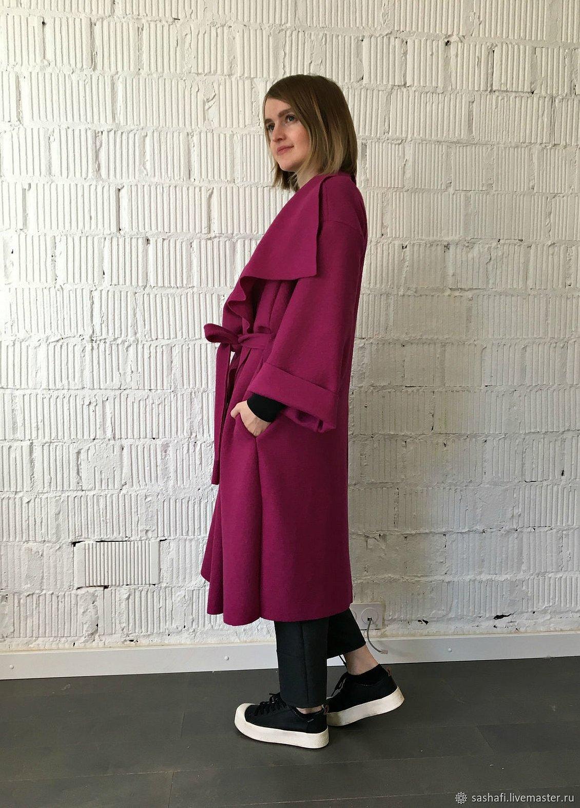 Фиолетовое пальто лоден